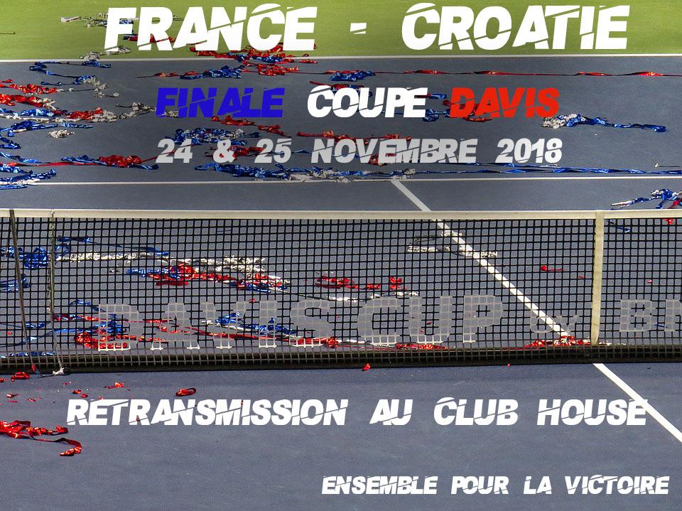 Retransmission de la finale de coupe davis au club house - Retransmission coupe davis ...